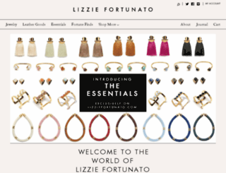 lizziefortunatojewels.com screenshot