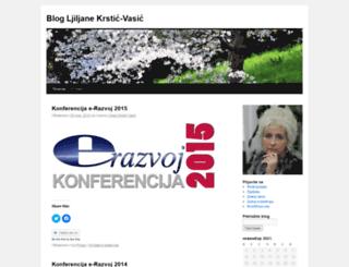 ljiljanakrsticvasic.wordpress.com screenshot