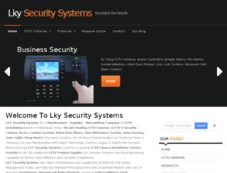 lkysecuritysystems.com screenshot