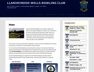 llandrindod-bowling.co.uk screenshot