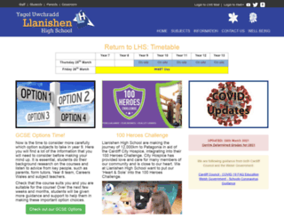 llanishenhighschool.co.uk screenshot
