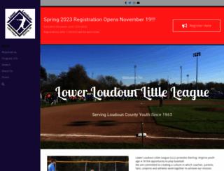 llbaseball.org screenshot