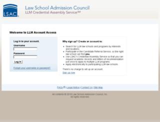 llm.lsac.org screenshot