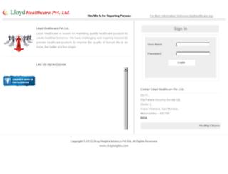 lloydhealthcare.net screenshot