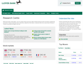 lloydsbankmarketwatch.co.uk screenshot