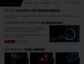 lloydslistintelligence.com screenshot