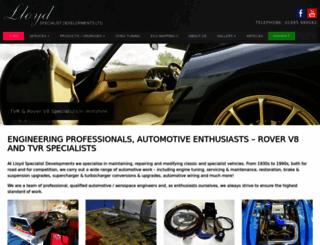 lloydspecialistdevelopments.co.uk screenshot