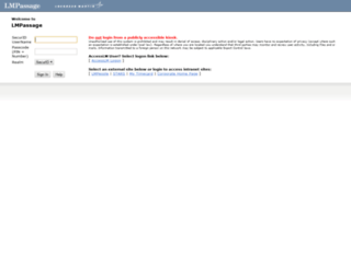 lmpassage2.external.lmco.com screenshot
