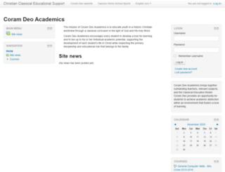lms.coramdeohomeschool.org screenshot