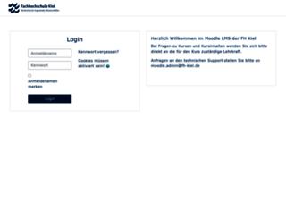 lms.fh-kiel.de screenshot