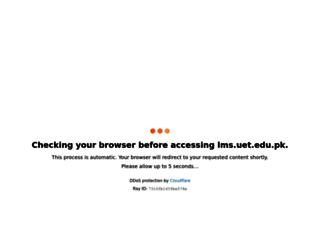 lms.uet.edu.pk screenshot