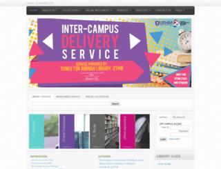 lms.uthm.edu.my screenshot