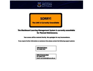 lms.uwa.edu.au screenshot