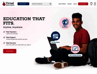 lms.virtualhighschool.com screenshot