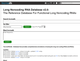 lncrnadb.org screenshot