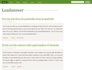 loadanswer.com screenshot