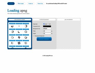 loadingapng.com screenshot
