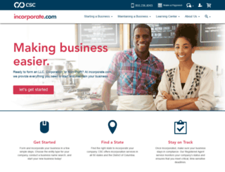 loans.incorporate.com screenshot