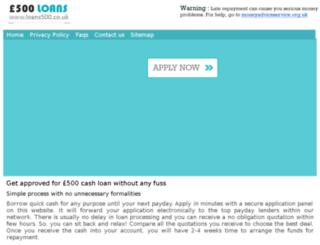 loans500.co.uk screenshot