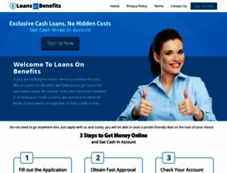 loansonbenefits.co.uk screenshot