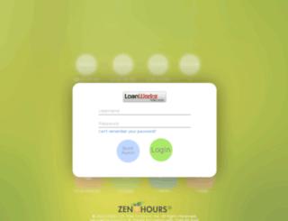loanworks.zenhours.com screenshot