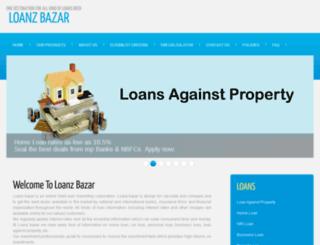 loanzbazaar.com screenshot