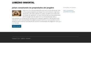 lobeznoinmortal.es screenshot