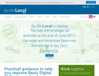 local.go-on.co.uk screenshot