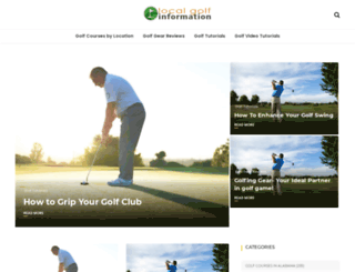 localgolfinfo.com screenshot
