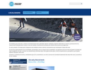 localidades.cfi.org.ar screenshot