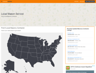 localmasonservice.com screenshot