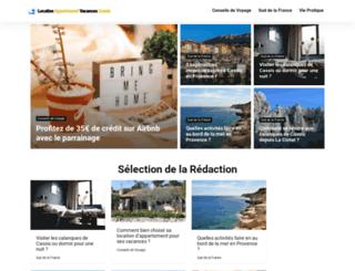 location-appartement-vacances-cassis.com screenshot