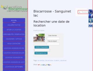 location-mobilhome-biscarrosse.com screenshot