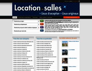 location-salle-insolite.com screenshot