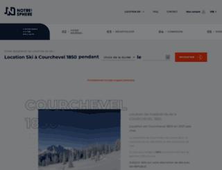 location-ski-courchevel.notresphere.com screenshot