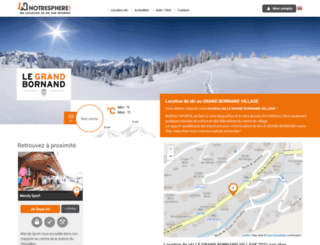 location-ski-le-grand-bornand.notresphere.com screenshot