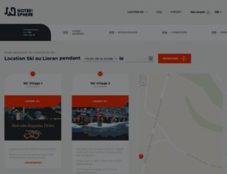 location-ski-le-lioran.notresphere.com screenshot