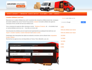 location-utilitaire-low-cost.fr screenshot