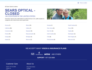 locations.searsoptical.com screenshot