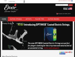 locator.elixirstrings.com screenshot