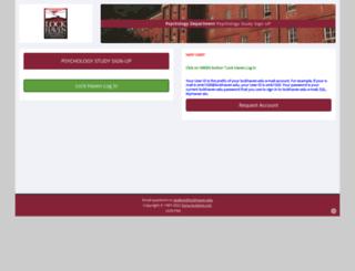 lockhaven.sona-systems.com screenshot
