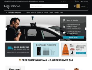 lockpickshop.com screenshot