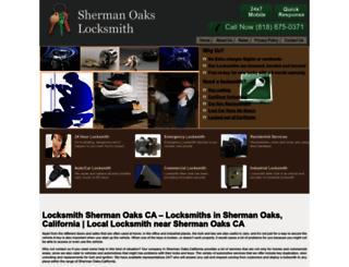 locksmithshermanoaks.com screenshot