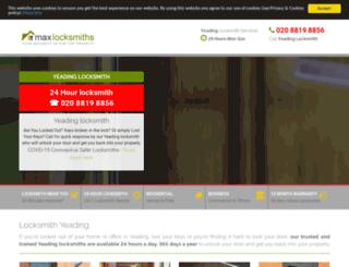 locksmithyeading.co.uk screenshot