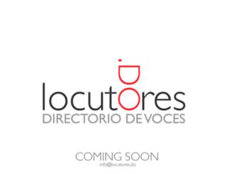 locutoresdominicanos.com screenshot