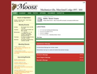 lodge495.moosepages.org screenshot