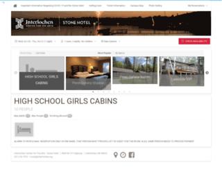 lodging.interlochen.org screenshot