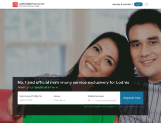 lodhirajputmatrimony.com screenshot