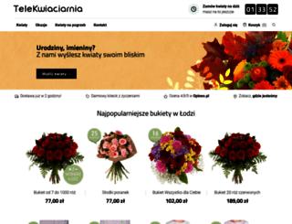 lodz.telekwiaciarnia.pl screenshot