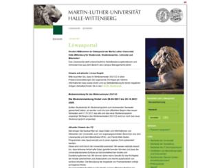 loewenportal.uni-halle.de screenshot